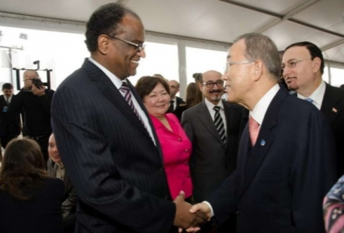 Dr. Hamad with Former UN Secretary General Ban Ki moon
