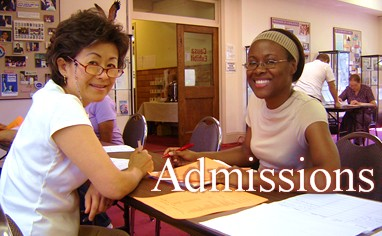 admissions section