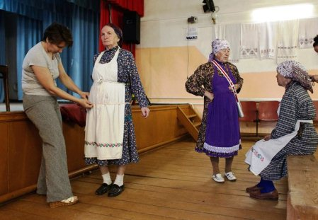 Members of Buranovskiye Babushki, or Grandmothers of Buranovo. In May, they placed second in the Eurovision song contest.