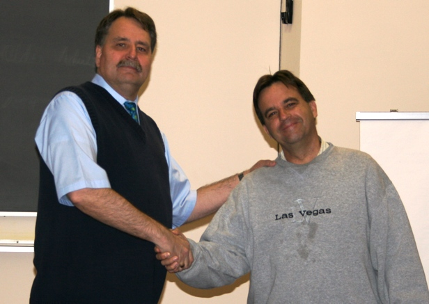 Rev. Kevin Thompson (right) with UTS Professor, Dr. Mark Isaacs
