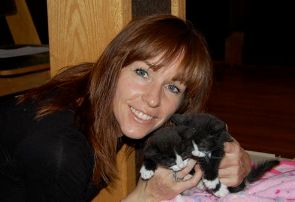Bobbi Jo Forte with Twin Cats