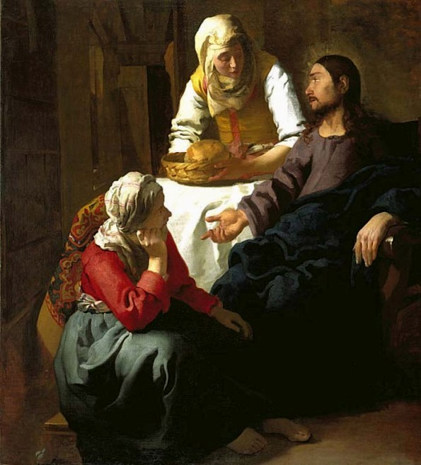 VERMEER van Delft Jan Christ in the house of Martha and Mary 1654
