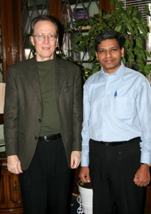 President Tyler Hendricks with Paul Rajan