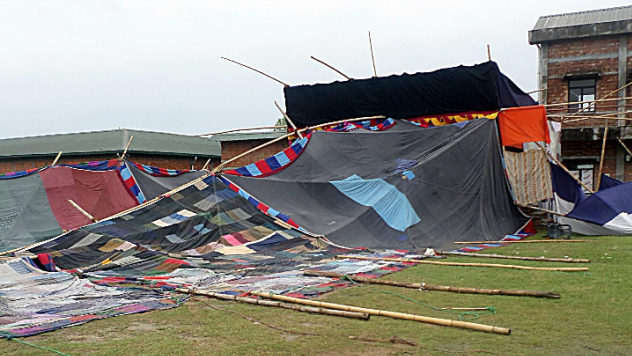 tent destroyed