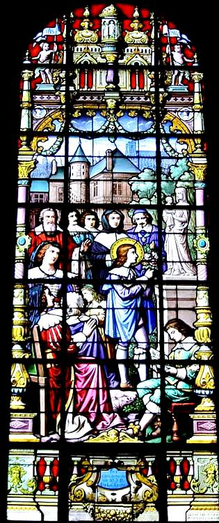staind glass window childhood-long